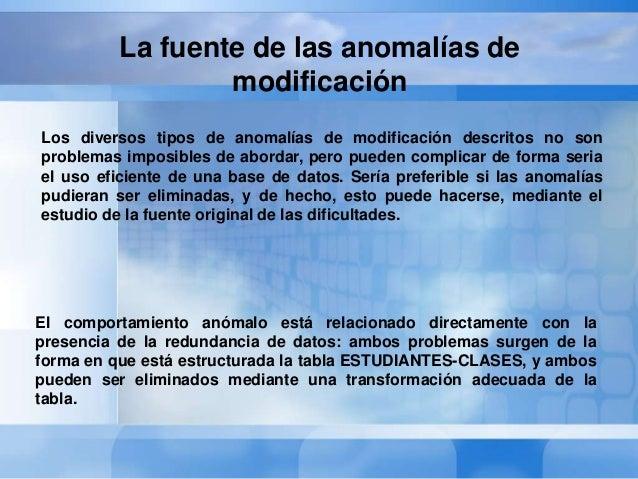 La fuente de las anomalías demodificación¿cuáles son los hechos básicos representados por la tablaESTUDIANTES-CLASES?La re...