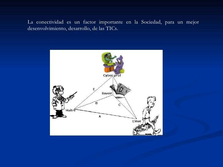 La conectividad es un factor importante en la Sociedad, para un mejor desenvolvimiento, desarrollo, de las TICs.