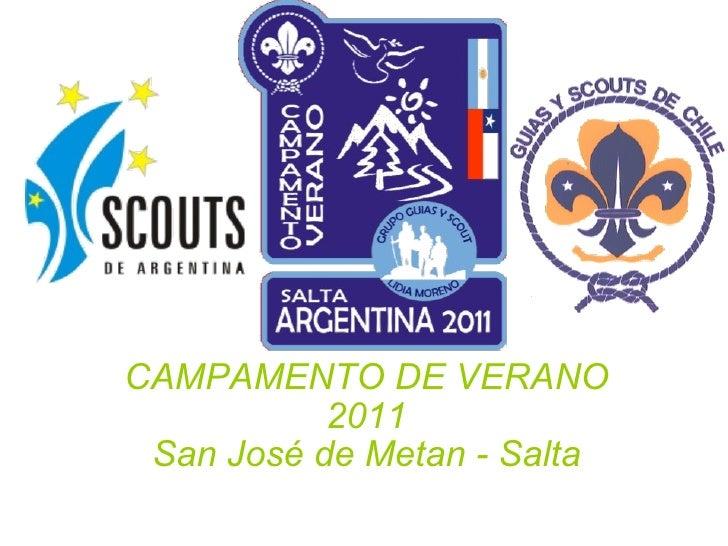 CAMPAMENTO DE VERANO 2011 San José de Metan - Salta