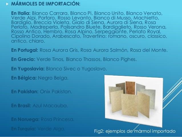 Presentacion 3 im14 for Composicion del marmol