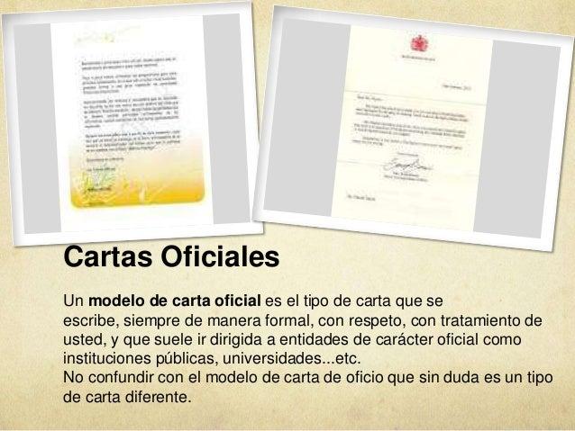 cartas oficiales un modelo de carta oficial