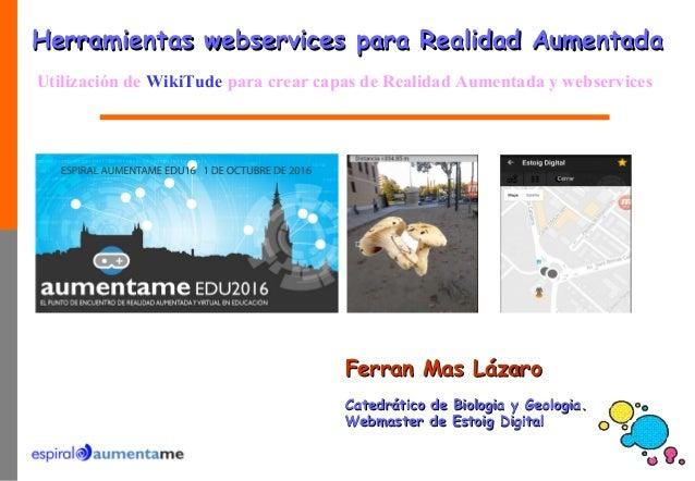 Ferran Mas LázaroFerran Mas Lázaro Catedrático de Biologia y Geologia.Catedrático de Biologia y Geologia. Webmaster de Est...