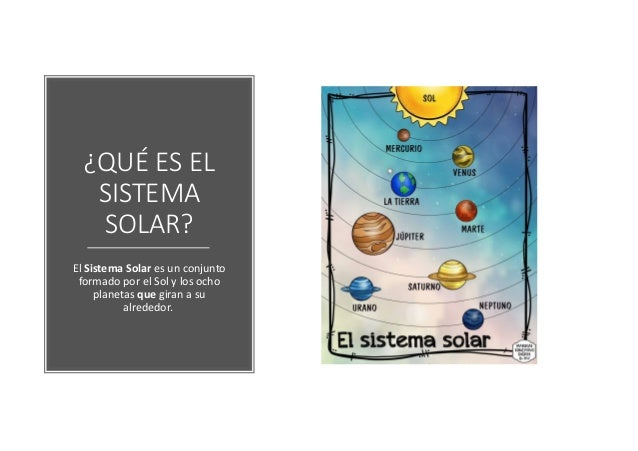 El sistema solar. Slide 2
