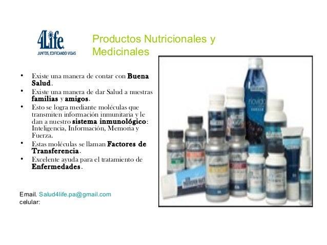 Productos Nutricionales y                        Medicinales•   Existe una manera de contar con Buena    Salud.•   Existe ...