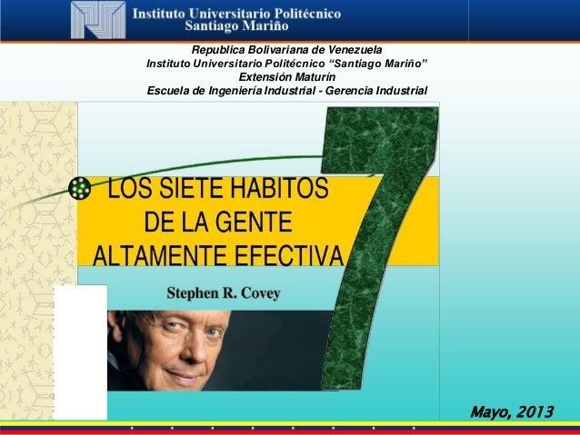 """Republica Bolivariana de Venezuela Instituto Universitario Politécnico """"Santiago Mariño"""" Extensión Maturín Escuela de Inge..."""