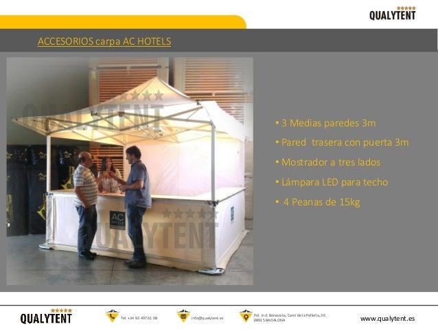 • 3 Medias paredes 3m • Pared trasera con puerta 3m • Mostrador a tres lados • Lámpara LED para techo • 4 Peanas de 15kg w...