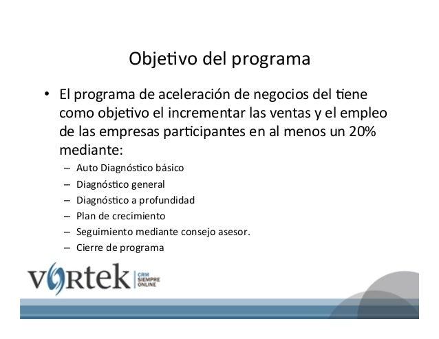 ACELERACION DE EMPRESAS EN MEXICO VORTEK Slide 3
