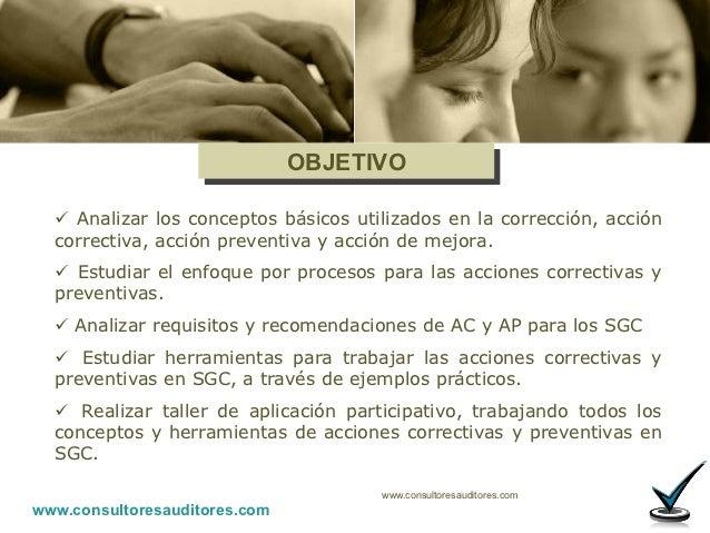 ACCIONES CORRECTIVAS Y PREVENTIVAS Slide 2