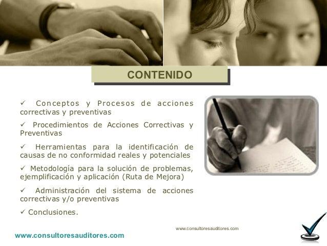 ACCIONES CORRECTIVAS Y PREVENTIVAS Slide 3