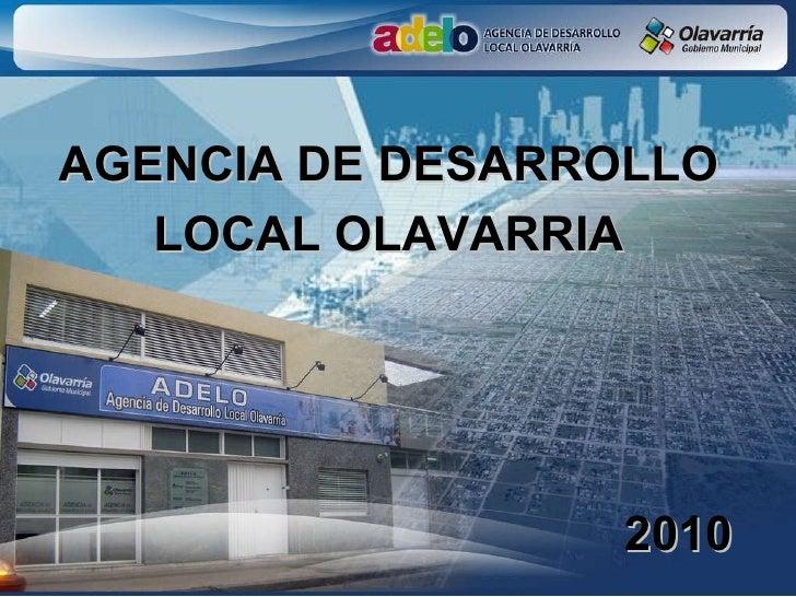 AGENCIA DE DESARROLLO LOCAL OLAVARRIA 2010