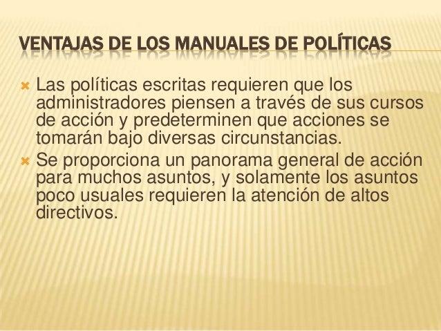 Ventajas y Desventajas de Los Manuales | Toma de ...