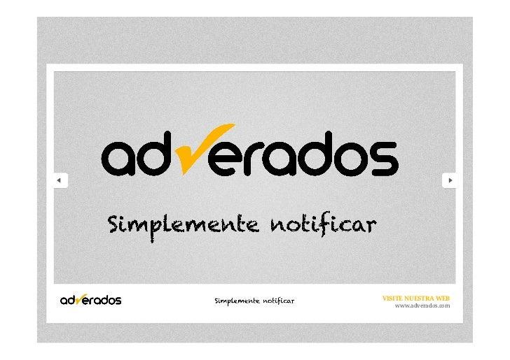 VISITE NUESTRA WEB   www.adverados.com