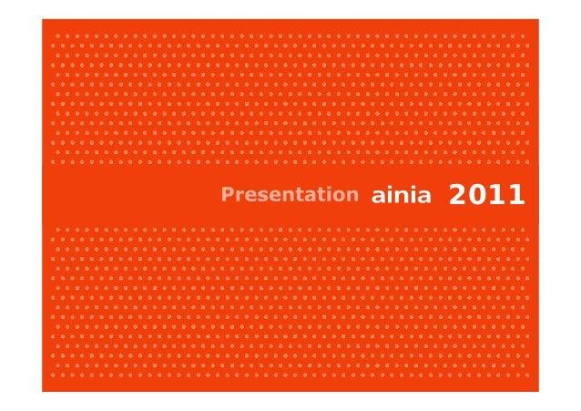 ainia 2011 presentation Slide 1