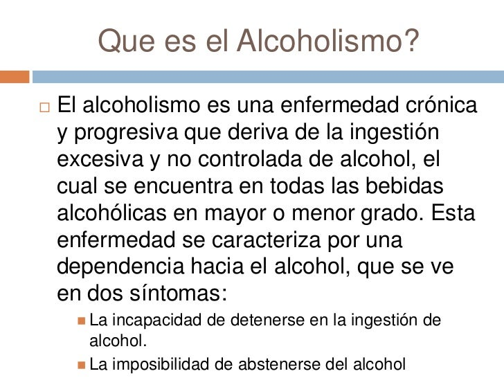 La codificación al alcohol