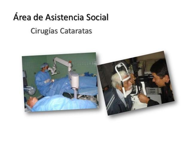 Cirugías CataratasÁrea de Asistencia Social