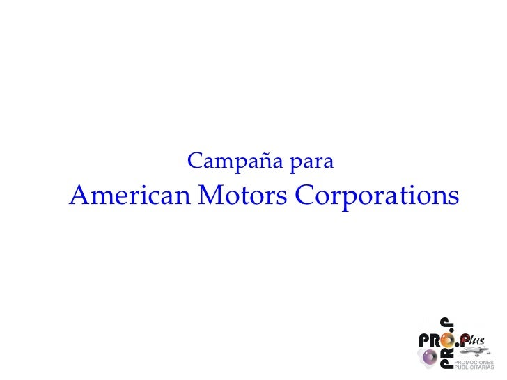 Campaña para  American Motors Corporations