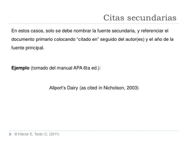 Citas De Apa 6 Edicion Ejemplos De Pronombres
