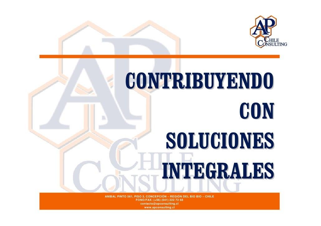 CONTRIBUYENDO                       CON                SOLUCIONES               INTEGRALES ANIBAL PINTO 561, PISO 3, CONCE...