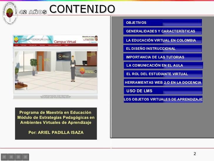 Modulo Estrategias Didácticas para Educación Virtual Slide 2