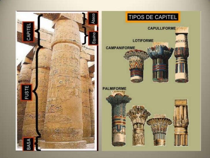 Algunos tipos de columnas• Columna cilíndrica: es la más sencilla,  con el fuste circular y liso y sin capitel.• Columnas ...
