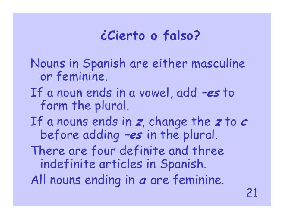 Gender, articles, plural forms