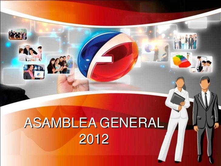 ASAMBLEA GENERAL      2012