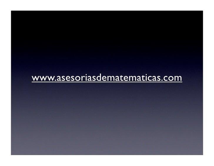 www.asesoriasdematematicas.com
