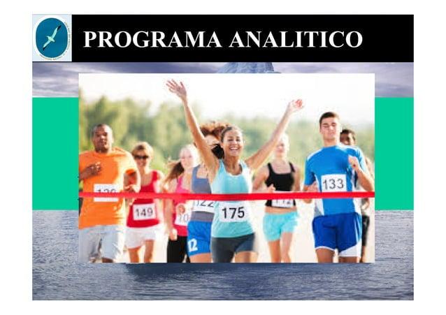 PROGRAMA ANALITICO Miércoles 01/07 Recuperatorio final