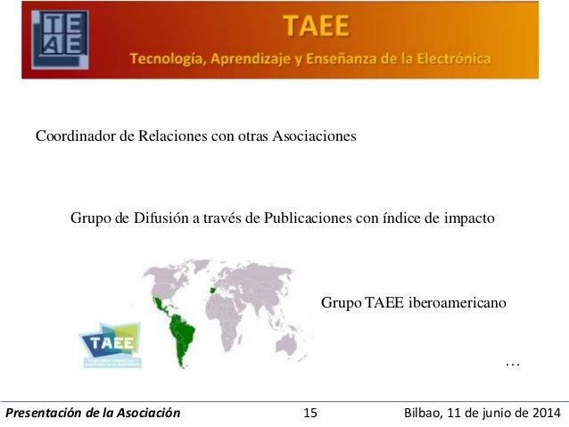 Coordinador de Relaciones con otras Asociaciones  Grupo de Difusión a través de Publicaciones con índice de impacto  Grupo...