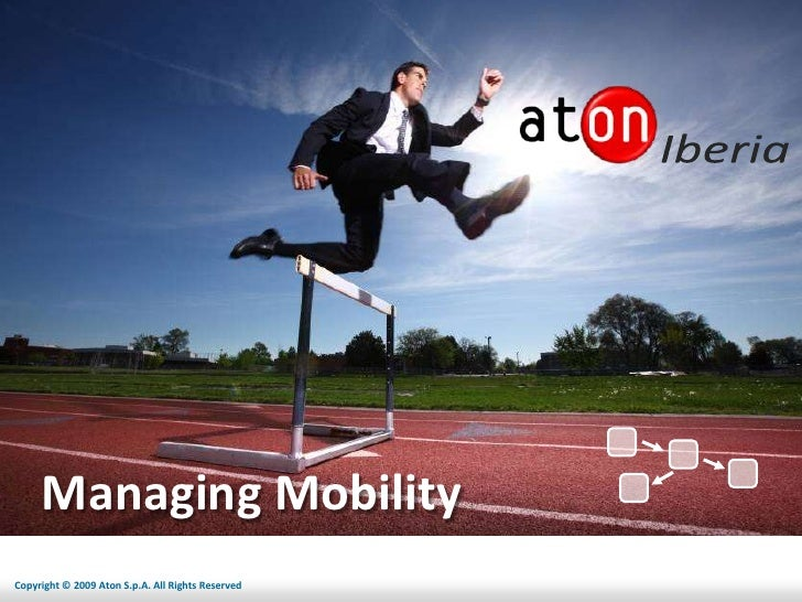 Managing Mobility Copyright © 2009 Aton S.p.A. All Rights Reserved