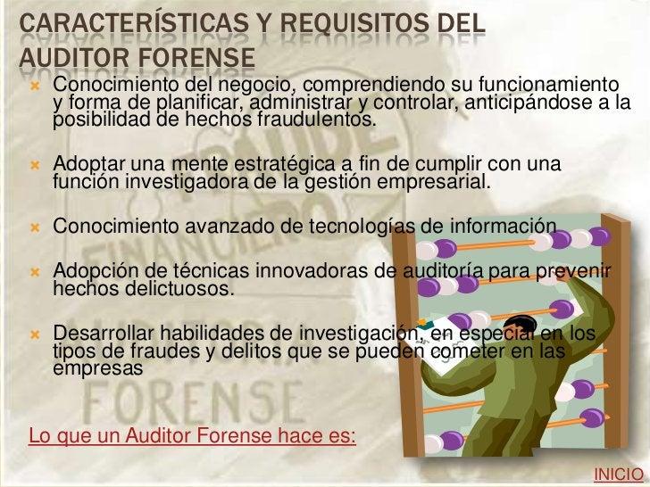 OBJETIVO DE LA AUDITORIA FORENSE   La auditoría forense es una alternativa para    combatir la corrupción, dado que permi...