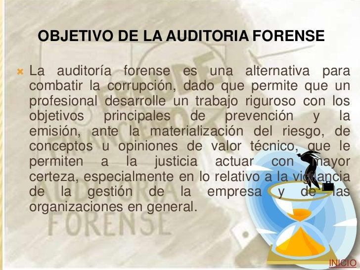 ETAPAS PARA LA REALIZACION DE        UNA AUDITORIA FORENSE Evaluación de Riesgos Planificación de la Auditoría Forense ...