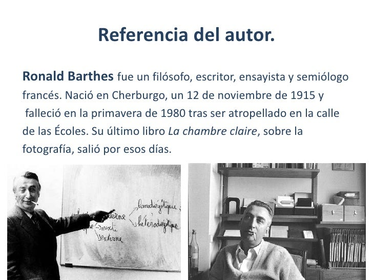 Barthes y la ret rica de la imagen - Barthes la chambre claire ...