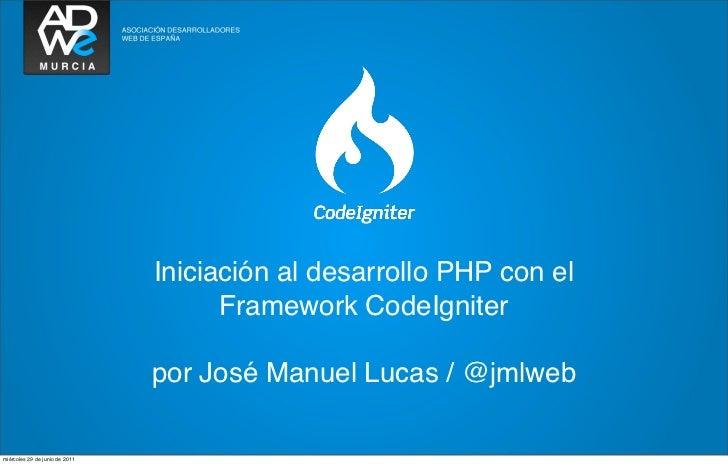 Iniciación al desarrollo PHP con el                                      Framework CodeIgniter                            ...