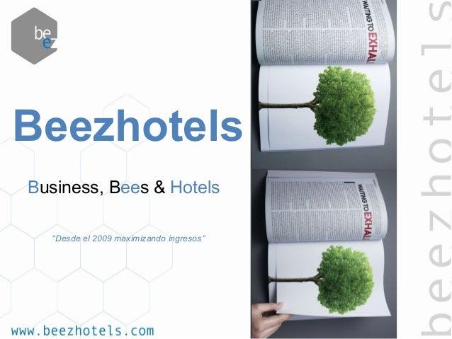 "Business, Bees & Hotels ""Desde el 2009 maximizando ingresos"" Beezhotels"