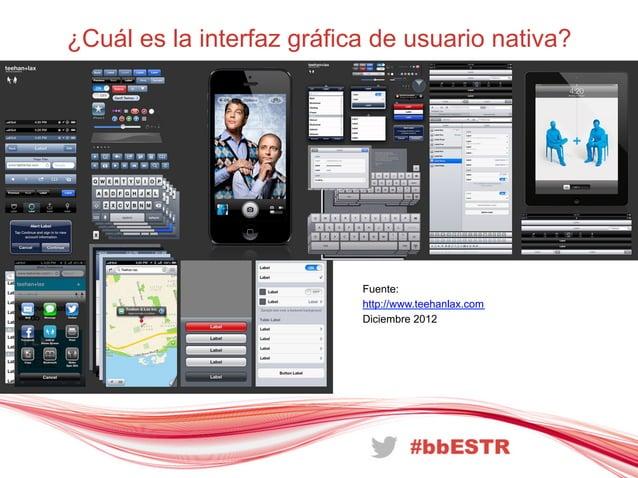 ¿Cuál es la interfaz gráfica de usuario nativa?Fuente:http://www.teehanlax.comDiciembre 2012