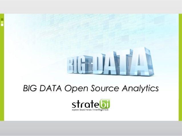 BIG DATA Open Source AnalyticsBIG DATA Open Source Analytics