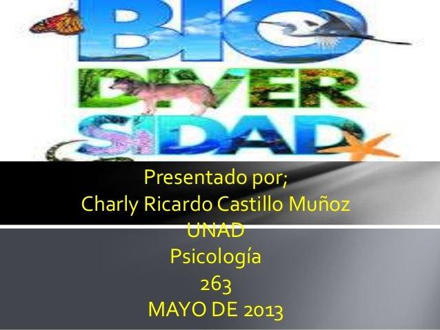 Presentado por;Charly Ricardo Castillo MuñozUNADPsicología263MAYO DE 2013