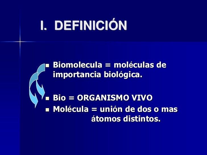 Presentacion biomoleculas for Molecula definicion