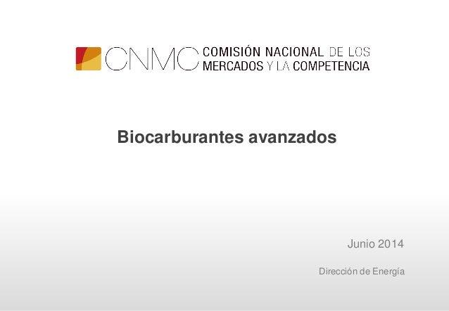 Junio 2014 Biocarburantes avanzados Dirección de Energía