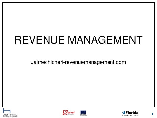 REVENUE MANAGEMENT Jaimechicheri-revenuemanagement.com  1