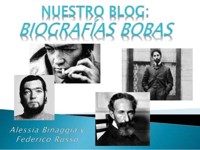  El propósito de este blog viene de dos sentidos. En Español, trabajamos con profundidad la biografía y los textos de dos...