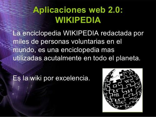 Aplicaciones web 2.0: VODCAST • El VODCAST o video podcast, consiste en crear archivos de video y distribuirlos mediante a...