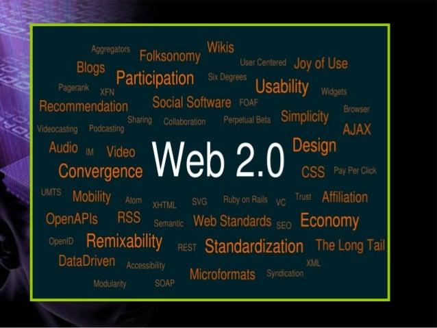 QUE ES LA WEB 2.0? WEB 2.0 se refiere a la transición percibida en Internet desde las Webs tradicionales a aplicaciones We...