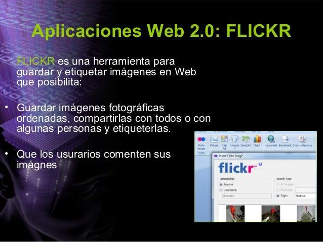 Aplicaciones web 2.0: Slideshare SLIDESHARE es una herramienta ofimática 2.0 que posibilita: • Compartir presentaciones: m...