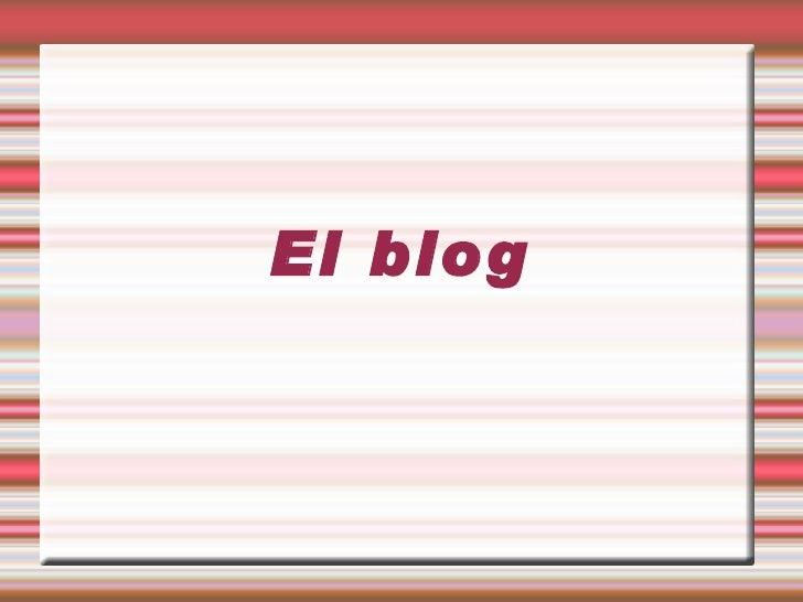 El blog