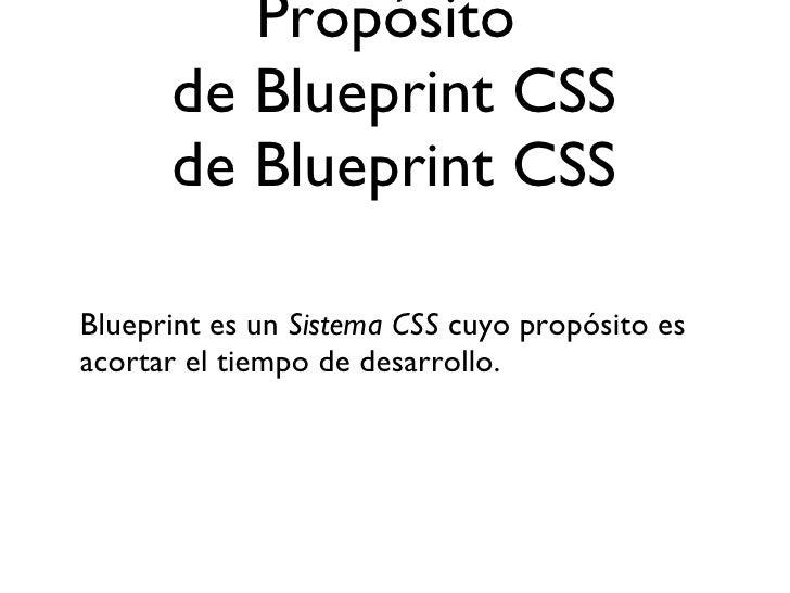 Blueprint css framework 4 propsito de blueprint css malvernweather Images