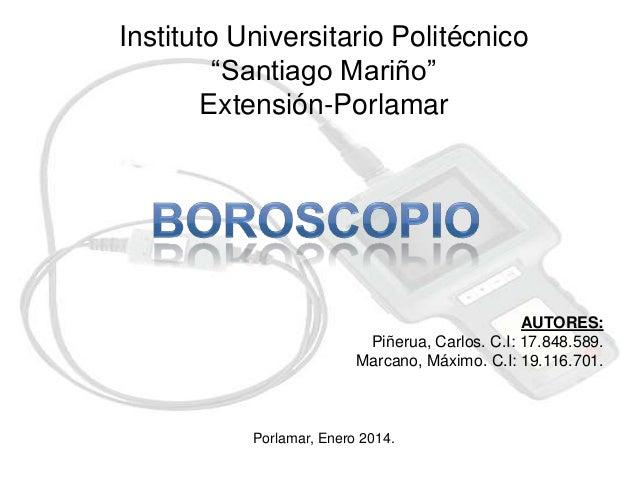 """Instituto Universitario Politécnico """"Santiago Mariño"""" Extensión-Porlamar  AUTORES: Piñerua, Carlos. C.I: 17.848.589. Marca..."""