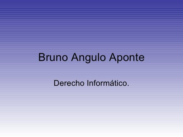 Bruno Angulo Aponte Derecho Informático.
