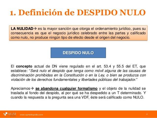 Presentacion Cafe Agm Despidos Nulos Causas Y Consecuencias